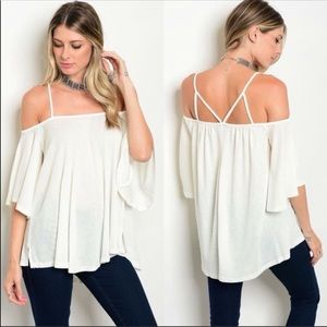 Tops - NWT White Strappy Top